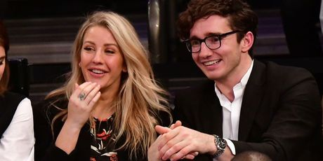 Ellie Goulding and Caspar Jopling attend the Brooklyn Nets Vs New York Knicks game at Madison Square Garden last year. Photo / Getty Images