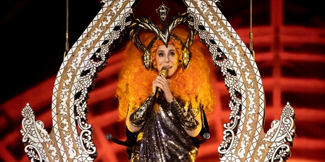 Cher performs up in the air at Spark Arena on September 21, 2018 in Auckland. Photo / Dean Purcell