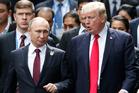 U.S. President Donald Trump (right) and Russia's President Vladimir Putin. Photo / AP