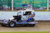 Ethan Anderson on his way to title honours at the Krusty 500 at Meeanee on Saturday night. Photo / Wayne Stewart