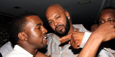 Kanye West and Suge Knight. Photo / Getty