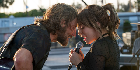 Bradley Cooper, left, and Lady Gaga in a scene from the latest reboot of the film A Star is Born. Photo / AP