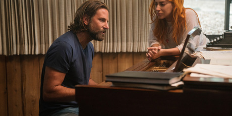 Bradley Cooper, left, and Lady Gaga in a scene from A Star is Born. Photo / AP