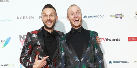 Jono and Ben at the NZ TV Awards. Photo / Norrie Montgomery.