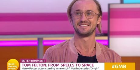 Tom Felton appeared on Good Morning Britain.