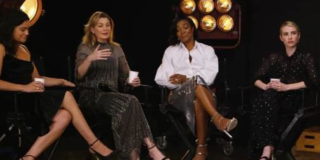 Gina Rodriguez and Gabrielle Union get it, Emma Roberts looks like she needs to speak to her manager. Photo / YouTube