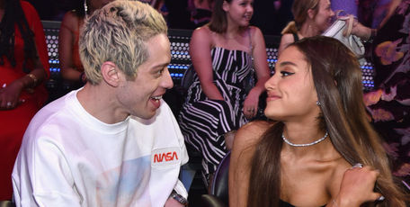 Pete Davidson (L) and Ariana Grande attend the 2018 MTV Video Music Awards at Radio City Music Hall. Photo / Getty