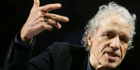 The director Abel Ferrara during a press conference to present the comedy, which he directed, Forcella Strit at the Trianon theater in Naples. Photo / Getty
