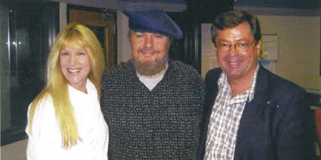 Leaney and Smith with legendary musician Dr John in the studio 2004. Photo / Supplied
