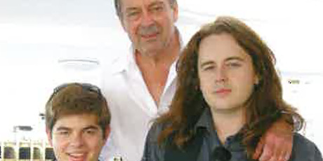 Leighton Smith with his sons Charles and Christian. Photo / Supplied