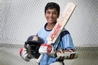 14-year-old Muhammad Abbas is a rising talent in cricket, having scored 7 centuries this season. Video / Nick Reed