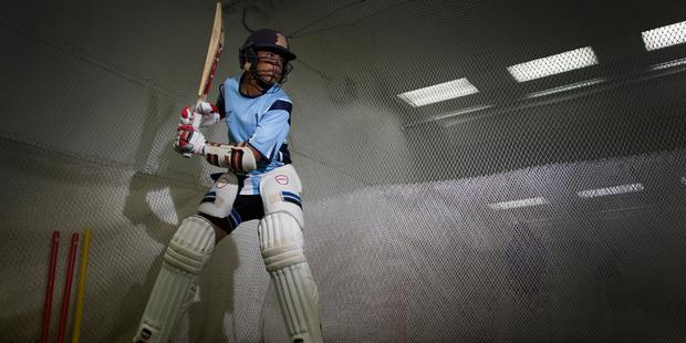 Loading 14-year-old Muhammad Abbas has hit seven centuries already this season. Photo / Nick Reed