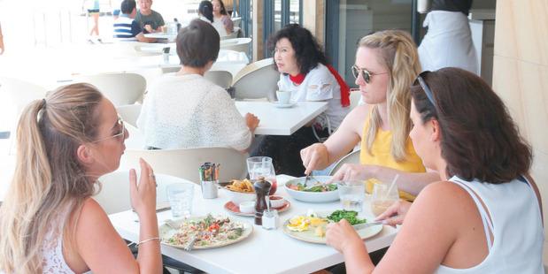 Diners at Cafe on Kohi. Photo / Doug Sherring