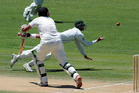Pakistan's Salman Butt, who was present at the 'corrupt' cricket game in the UAE, attempts a catch on New Zealand's Daryl Tuffey. Photo / File