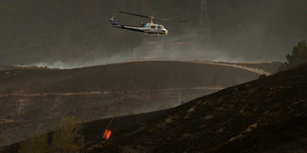 A major blaze was fought near Christchurch during bone-dry conditions last year. Photo / Alan Gibson