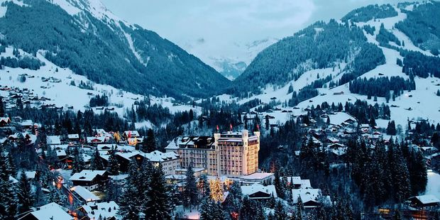 The high-end alpine resort town of Gstaad