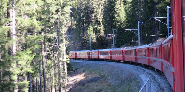 Our train on the Chur to Bever UNESCO World Heritage trip.