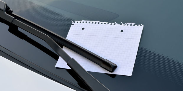 An Auckland woman was stunned after she returned to her car to find a vile note left by an angry stranger. Photo / 123rf / Not illustrative of actual incident