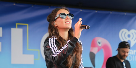 Amy Shark performs at ZM's Flochella in Rotorua.