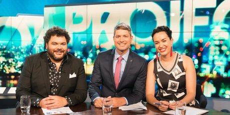 Josh Thomson, Jesse Mulligan and Kanoa Lloyd host The Project on Three.