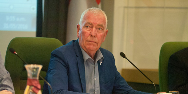 Councillor Peter Bentley, pictured in 2016, voted against a motion to conduct a council carbon inventory. Photo / File