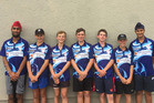 Pritpal Singh (left), Hamish James, Rogan Ross, Josh Fairbrother, Jed Greville, Ryan Miller and Joban Bath are Cornwall Cricket Club players in the Hawke's Bay U14 squad. Photo/Supplied