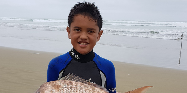 Eight-year-old Mekhi Heka has made a brilliant start to his surfcasting career.