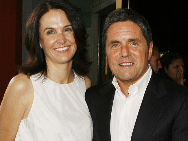 Jill Messick and Paramount's Brad Grey at a movie launch. Photo / Getty