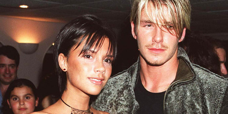 Victoria Adams & David Beckham, Backstage After Whitney Houston Concert, At Wembley Arena, London. Photo / Getty