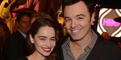 Actors Emilia Clarke and Seth McFarlane attend HBO's Official Golden Globe Awards After Party. Photo / Getty