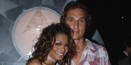 Janet Jackson and Matthew McConaughey at the 44th Annual Grammy Awards in 2002. Photo / Getty