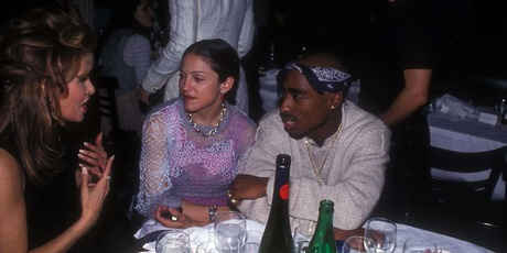 Madonna and Tupac Shakur at the Interview Magazine party in March 1, 1994 in New York City. Photo / Getty