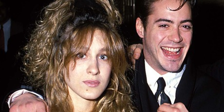 Sarah Jessica Parker and Robert Downey Jr in 1988. Photo / Getty