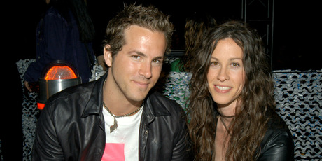 Ryan Reynolds and Alanis Morissette. Photo / Getty