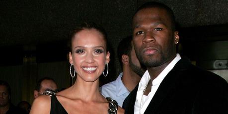 Jessica Alba and 50 Cent in 2007. Photo / Getty