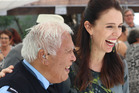Henare Hape, at 84 Northland's oldest Maori Warden, shares a laugh with Prime Minister Jacinda Ardern. Photo / Peter de Graaf