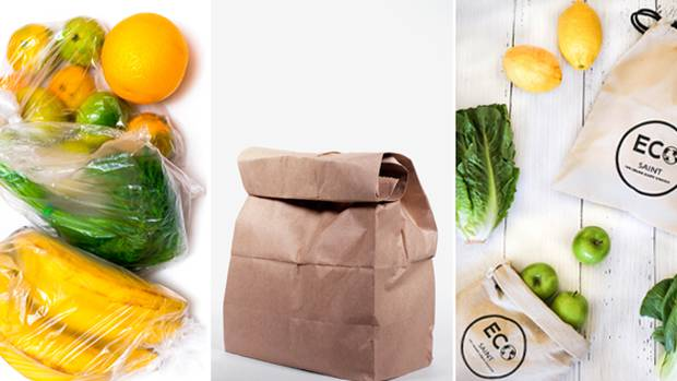 We compared plastic, paper and Eco Saint bags. Photos / Getty and Supplied