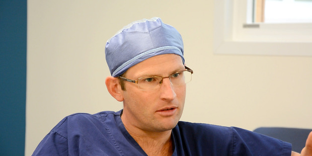 Waikato Hospital cardiothoracic surgeon Dr Paul Conaglen can now perform a single incision video-assisted lung surgery. Photo / Waikato DHB