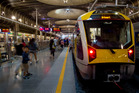 A dispute between Auckland rail workers and train operator Transdev is adding to transport pressures as March Madness begins. Photo / Sarah Ivey