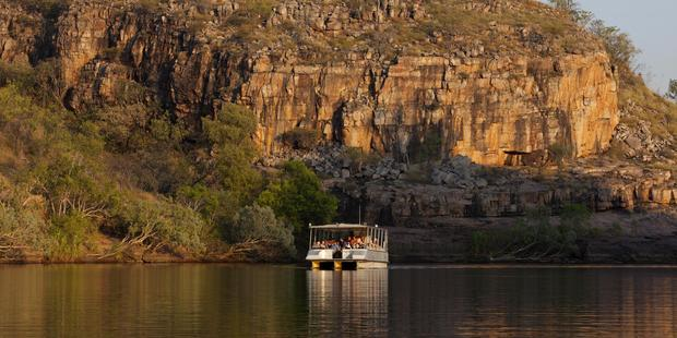 Cruising in the Katherine Gorge.