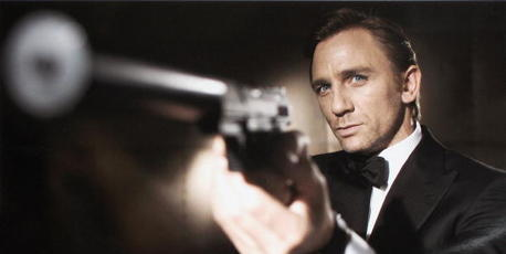 Actor Daniel Craig poses as James Bond. Photo / Getty