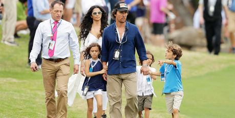 Matthew McConaughey, Camila Alves and their children Levi, Vida and Livingston. Photo / Getty Images