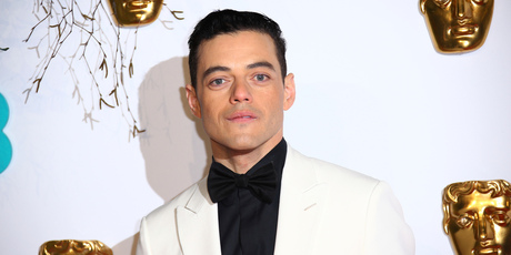Actor Rami Malek poses for photographers upon arrival at the BAFTA awards in London. Photo / AP