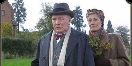 Albert Finney as Churchill and Vanessa Redgrave as his wife Clementine in The Gathering Storm.