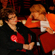 Labour Party supports watch election coverage while they wait for New Zealand Prime Minister Helen Clark at the Dalmatian Cultural Centre. Photo / Greg Bowker