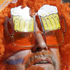 A Netherlands fan brings new meaning to 'beer goggles'. Photo / AP