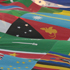 Soccer supporters hold a giant flag bearing the flags of various nations during the World Cup group D soccer match between Ghana and Australia at Royal Bafokeng Stadium in Rustenburg, South Africa. Photo / AP