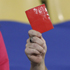 Australia supporters hold up red cards at the end of the World Cup group D soccer match between Ghana and Australia at Royal Bafokeng Stadium in Rustenburg, South Africa. Photo / AP