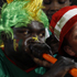 A Cameroon supporter, left, and a Denmark supporter, right, blow vuvuzelas before the World Cup group E soccer match between Cameroon and Denmark at the Loftus Versfeld Stadium in Pretoria, South Africa. Photo / AP
