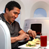 All Black Mils Muliaina and Olympic gold-medal cyclist Sarah Ulmer sample Air New Zealand's new menu. Photo / Natalie Slade